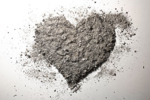 heart shape ashes picture